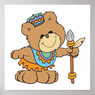KWANZAA cute teddy bear design Poster