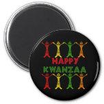Kwanzaa Dancers 2 Inch Round Magnet