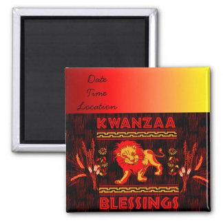 Kwanzaa Dancers 2 Inch Square Magnet