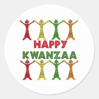 Kwanzaa Dancers Classic Round Sticker