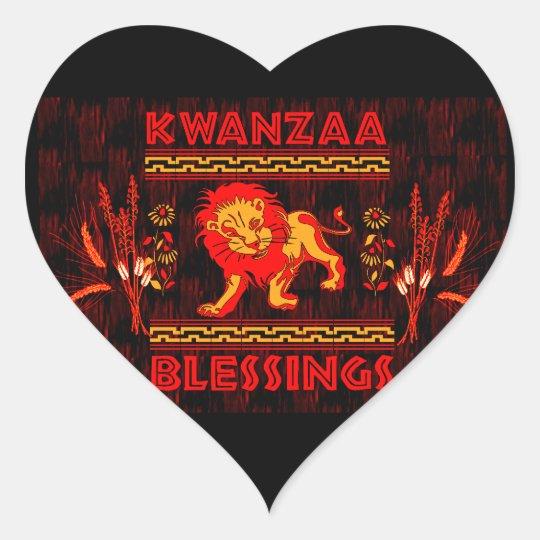 Kwanzaa Dancers Heart Sticker