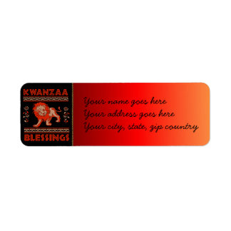 Kwanzaa Dancers Label