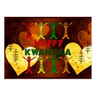Kwanzaa Dancers Large Business Card