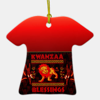 Kwanzaa Dancers Double-Sided T-Shirt Ceramic Christmas Ornament