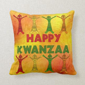 Kwanzaa Dancers Throw Pillows