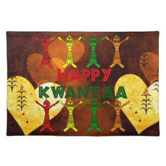 Kwanzaa Dancers Cloth Place Mat
