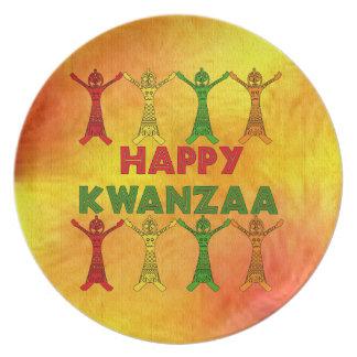 Kwanzaa Dancers Party Plates