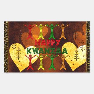 Kwanzaa Dancers Rectangular Sticker