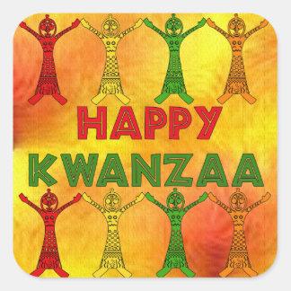 Kwanzaa Dancers Square Sticker