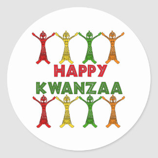 Kwanzaa Dancers Stickers