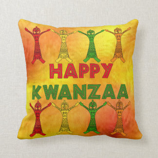 Kwanzaa Dancers Throw Pillow
