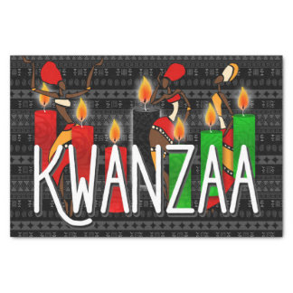 Kwanzaa Dancers with Kinara Candles Tissue Paper