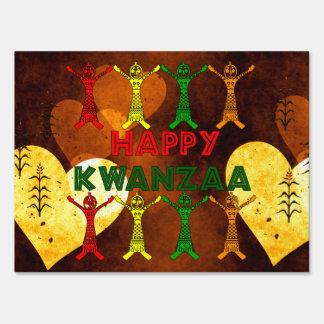 Kwanzaa Dancers Lawn Signs