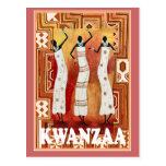 Kwanzaa - dancing ladies post cards