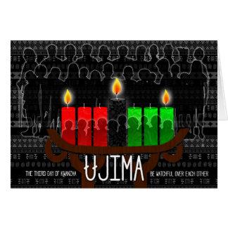 Kwanzaa Day 3 Ujima Responsibility with Kinara Card
