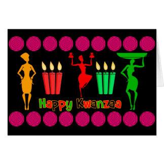 Kwanzaa design colorful and joyful with swirls card