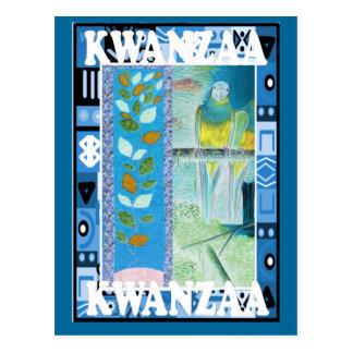 Kwanzaa - diseño floral postal