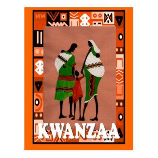 Kwanzaa - familia africana tarjetas postales