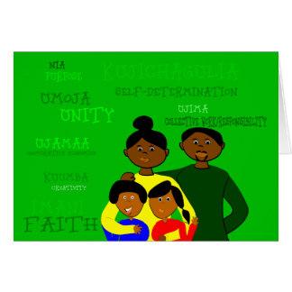 Kwanzaa Family Card