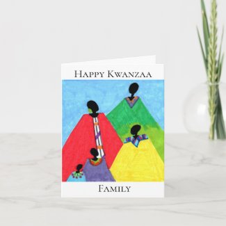 Kwanzaa Family Greeting Card