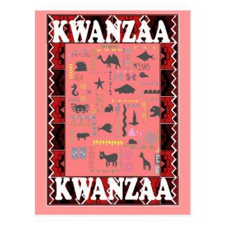 Kwanzaa - Favourite animals pink Postcard