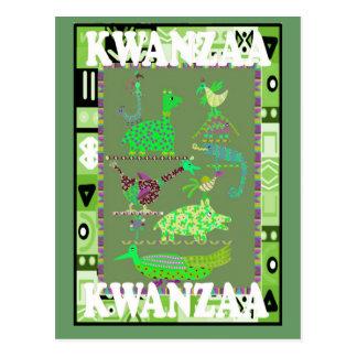 Kwanzaa - Favourite animals Postcard