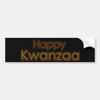 Kwanzaa feliz etiqueta de parachoque