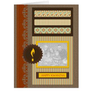 Kwanzaa feliz (libro de recuerdos) tarjeta de felicitación grande