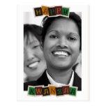 Kwanzaa feliz - modificado para requisitos particu postales