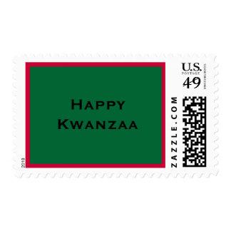 Kwanzaa feliz sello postal