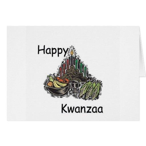 Kwanzaa feliz tarjeta