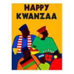 Kwanzaa feliz tarjeta postal