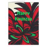 Kwanzaa feliz tarjetón