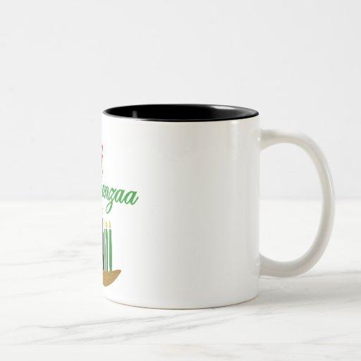 Kwanzaa feliz taza de café