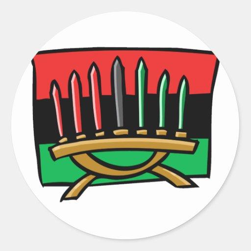 Kwanzaa Flag Classic Round Sticker