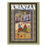 Kwanzaa - frutas y verduras tarjeta postal