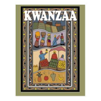 Kwanzaa - frutas y verduras postal