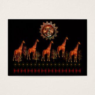 Kwanzaa Giraffes Business Card