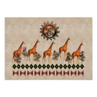 Kwanzaa Giraffes Card