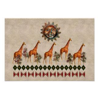 Kwanzaa Giraffes Personalized Invite
