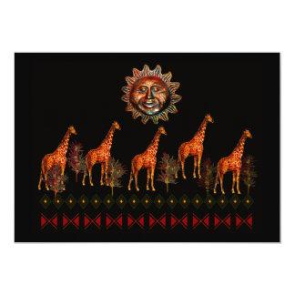 Kwanzaa Giraffes Personalized Announcements