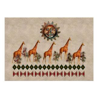 Kwanzaa Giraffes Custom Invite