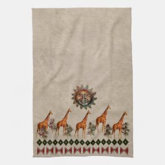 Kwanzaa Giraffes Towel