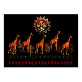 Kwanzaa Giraffes Large Business Card
