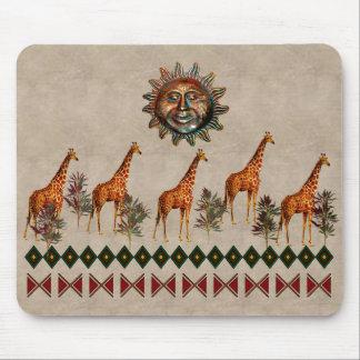 Kwanzaa Giraffes Mouse Pad
