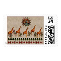 Kwanzaa Giraffes Postage