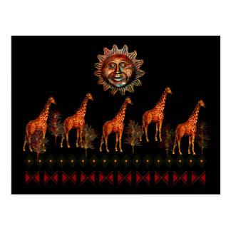 Kwanzaa Giraffes Postcard
