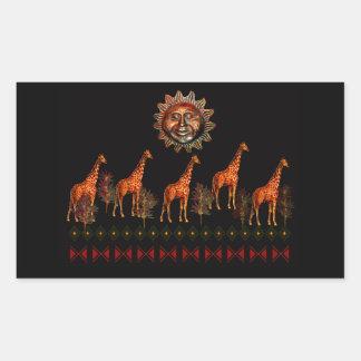 Kwanzaa Giraffes Rectangular Sticker