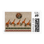 Kwanzaa Giraffes Stamp