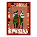 Kwanzaa, grupo de la familia tarjeta de felicitación